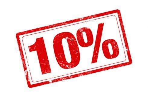 giảm 10%