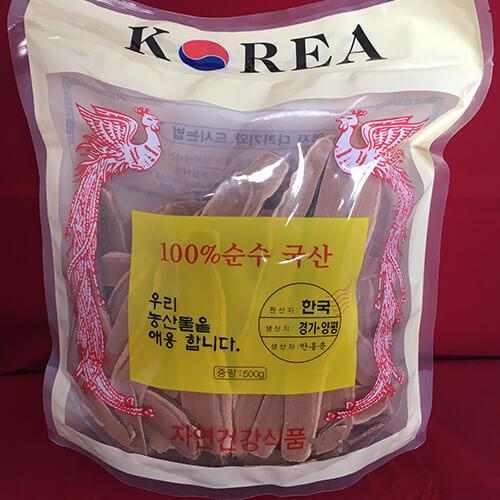 giá nấm linh chi Hàn quốc xắt lát 500g