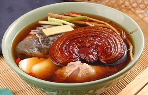 Nấm Linh Chi nấu canh
