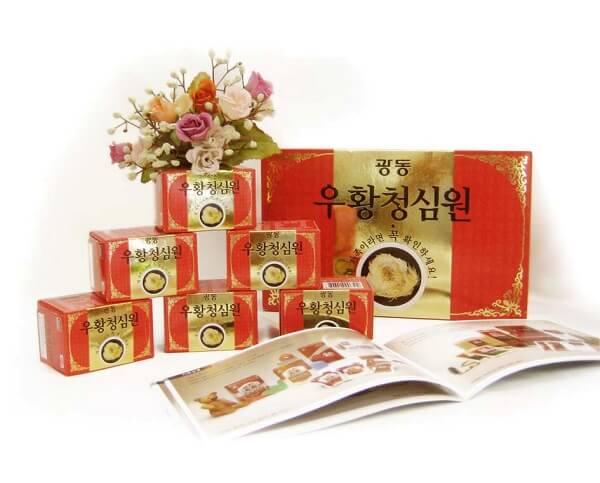 Giá thuốc An Cung Ngưu Hoàng Hoàn Hàn Quốc