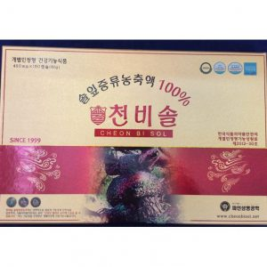 Tinh Dầu Thông Đỏ Hàn Quốc Cheon Bi Sol 180 Viên