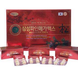 Tinh dầu thông đỏ Hàn Quốc Samsung Pine Mega Max 120 viên