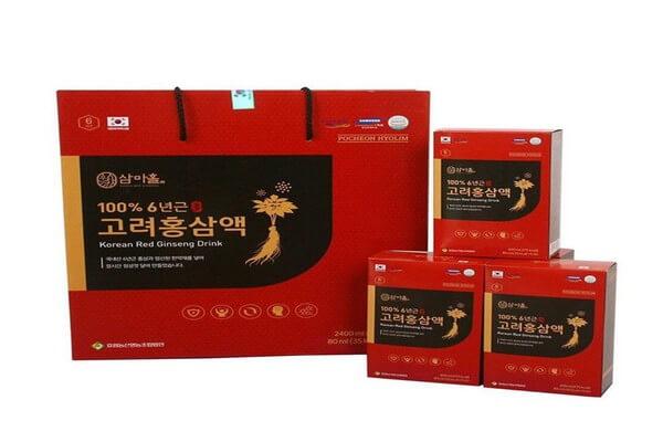 Nước uống hồng sâm Korean Red Ginseng có nhiều công dụng nổi bật