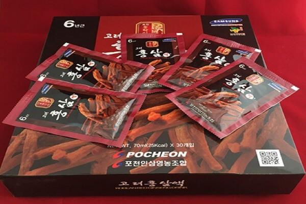 Nước hồng sâm Pocheon hợp với người bị ốm