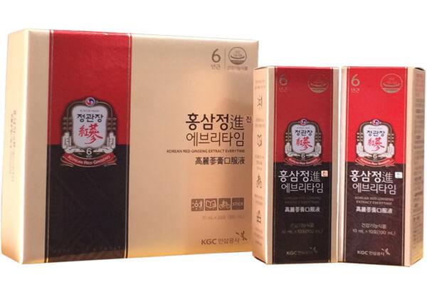 Nước hồng sâm Hàn Quốc hộp 30 gói giá bao nhiêu?