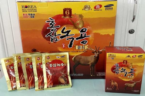 Tinh chất hồng sâm nhung hươu Hàn Quốc và thông tin chi tiết