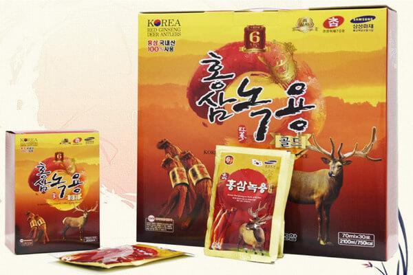 Ưu điểm nổi bật của tinh chất hồng sâm nhung hươu Hàn Quốc